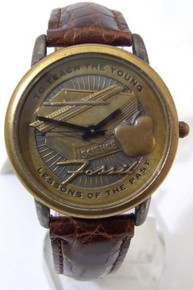Fossil Teachers Watch Vintage Educators Collectors Novelty Wristwatch