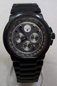 Pittsburgh Steelers Fossil Watch Men Multifunction Black IP Wristwatch