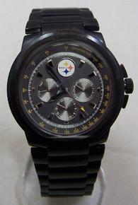 Pittsburgh Steelers Fossil Watch Men Multifunction Black IP Wristwatch