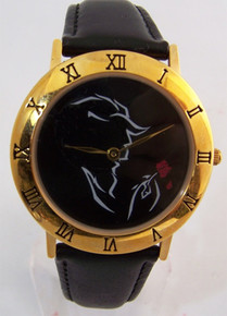 Beauty and The Beast Watch Broadway Musical Black Gold LE Wristwatch