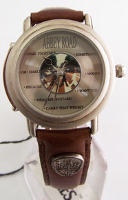 The Beatles Abbey Road Watch in Wooden Guitar Case Beatles Wristwatch