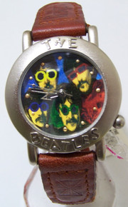The Beatles Watch in Wooden Guitar Case Beatles In Psychedelic Glasses