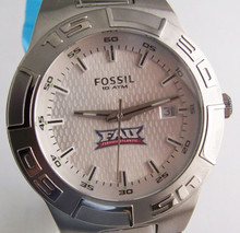 FAU Florida Atlantic University Fossil Watch Mens SS Wristwatch