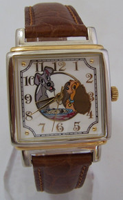 Fossil Lady and the Tramp Watch Set Disney Collectors in Book Display