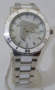 Atlanta Falcons Mother of Pearl Watch GameTime Womens MOP Wristwatch