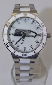 Seattle Seahawks Mother of Pearl Watch GameTime Womens MOP Wristwatch