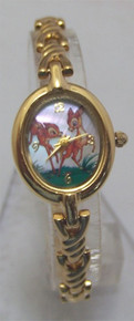 Disney Bambi and Faline Watch Lm Ed Wristwatch in Ceramic Art Wood Box
