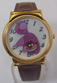 Cheshire Cat Watch Disney Rotating Cat Smile Collectible Wristwatch