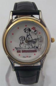 101 Dalmatians Watch Disney Pongo Perdita Rotating Pups Wristwatch