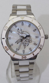 Minnesota Vikings Mother of Pearl Watch GameTime Womens MOP Wristwatch