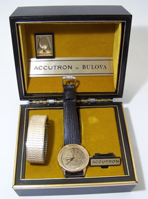 Bulova Accutron McDonalds Watch Collectors Wristwatch with Watch Case