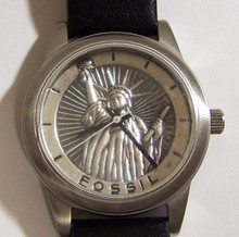 Fossil Statue of Liberty Watch Lady Liberty Wristwatch Vintage LE9513