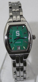 Michigan State Fossil Watch Ladies 3 Hand Date Womens Wristwatch New