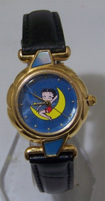 Betty Boop Watch Fantasma Blue Mother Of Pearl Womens Wristwatch