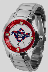 Washington Nationals Watch World Series Titan SS Mens Wristwatch