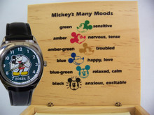 Mickey Mouse Mood Watch Fossil vintage Novelty Disney Wristwatch
