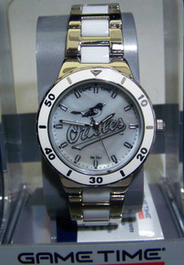 Baltimore Orioles Mother of Pearl Watch GameTime MOP Womens Wristwatch