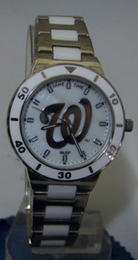 Washington Nationals Pearl Watch GameTime MOP Womens Wristwatch