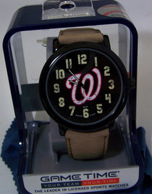 Washington Nationals Mens Watch Game Time Throw Back Casual Wristwatch