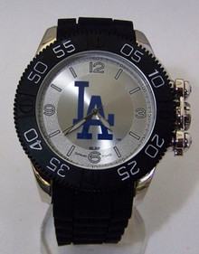 LA Dodgers Watch Game Time Beast Mens Locking Crown Black Wristwatch