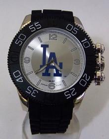 LA Dodgers Watch Game Time Beast Mens Locking Crown Black Wristwatch