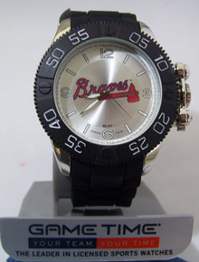 Atlanta Braves Watch Game Time Beast Mens Baseball Black Wristwatch