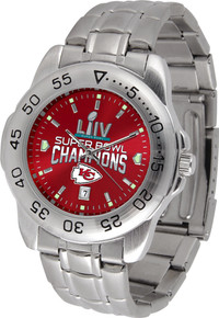 Kansas City Chiefs Super Bowl Watch LIV 54 Mens GameTime SS Wristwatch
