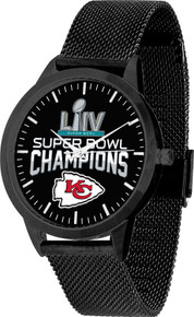 Kansas City Chiefs Super Bowl LIV watch Mens GameTime Mesh Wristwatch