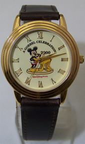 Mickey Mouse and Pluto Watch Disney Goebel Special Lmt Ed Wristwatch