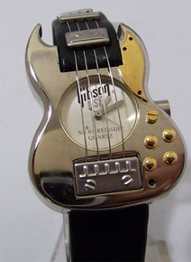 Gibson Guitar Watch Les Paul SG 61 Reissue Silver Wristwatch Mens New