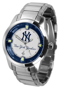 NY New York Yankees Watch Mens Game Time Titan Series SS Wristwatch