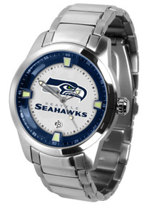 Seattle Seahawks Watch Mens Game Time Titan Series Stainless Wristwatch
