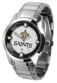 New Orleans Saints Watch Mens Game Time Titan Stainless Wristwatch