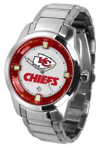 Kansas City Chiefs Watch Mens Game Time Titan Stainless Wristwatch New