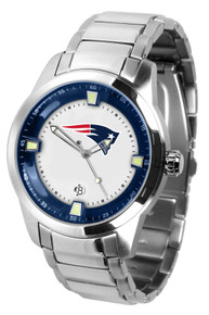 New England Patriots Watch Mens Game Time Titan Stainless Wristwatch
