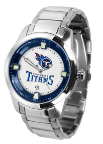 Tennessee Titans Watch Mens Game Time Titan Stainless Date Wristwatch