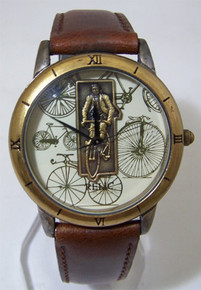 Fossil Bicycle Watch Vintage Cyclist Wristwatch Collectors Relic New