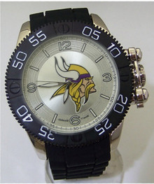 Minnesota Vikings Watch Game Time Beast Mens Black NFL Team Wristwatch