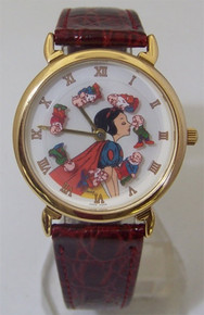 Disney Watch Snow White Kissing 7 Dwarfs Animated Pedre Wristwatch
