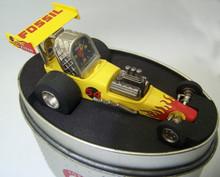 Fossil Dragster Desk Clock Drag Racing Car Novelty Desk Clock New