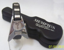 Gibson Guitar Watch Gibson 67 Flying V Gray Wristwatch In Guitar Case