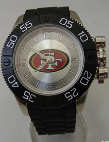 San Francisco 49ers Watch Game Time Beast Mens Black NFL Wristwatch