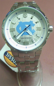UNC North Carolina Tarheels Fossil watch Mens Large Logo SS Defender