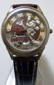 Mickey Mouse Aviator Watch Vintage Fossil Made Collectors Wristwatch