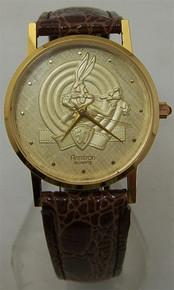 Bugs Bunny Gold Armitron Watch Looney Tune 50th Anniversary Wristwatch