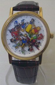 Mickey Mouse Watch Disney Eleven 11 Rotating Characters Wristwatch New