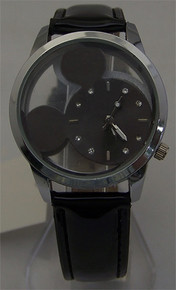 Mickey Mouse Disney Watch Silhouette See Through Novelty Wristwatch