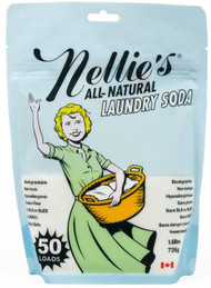 Use one tablespoon of Nellie's Laundry Soda for each regular sized load. Wash according to instructions on garments. Always test on garments that may bleed or fade. Nellie's Laundry Soda is safe for HE and standard washing machines.