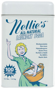 Doing 100 loads of laundry never sounded so good! Just when you thought washing your family's underwear couldn't get more exciting, Nellie's made a laundry soda that's truly perfect for every household (AND its underwear)!  Free from SLS, SLES, gluten, phosphates, fragrance and chlorine, our highly concentrated formula dissolves quickly in cold or hot water, rinses thoroughly and leaves no residue. So don't worry – even your mother-in-law will approve!  WHY POWDER? Liquid detergents are made up largely of water. At Nellie's, we don't think selling and moving water around the planet is a very good idea. The fact is, more cleaning power can be packed into a smaller space using powder.