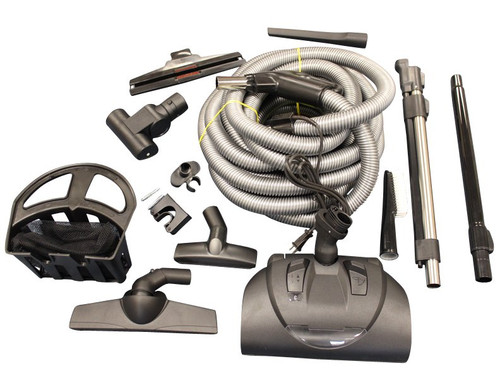 Wessel Work 35' Central Vac Accessory set adapts to direct connect installation or can be used where a pigtail uses a 110v power supply.